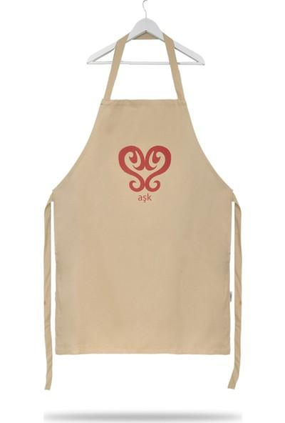 Sihirli Semboller Aşk Sembollü Mutfak Önlüğü