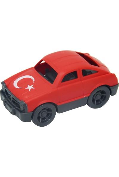 Yaka Oyuncak Türk Bayrağı Desenli Araba