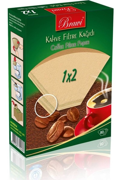Caffeo 1 x 2 80 Kahve Filresi Kağıdı