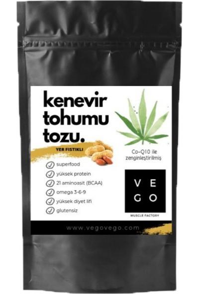 Vegovego Kenevir Kendir Tohumu Tozu - Yer Fıstığı Aromalı 100 g