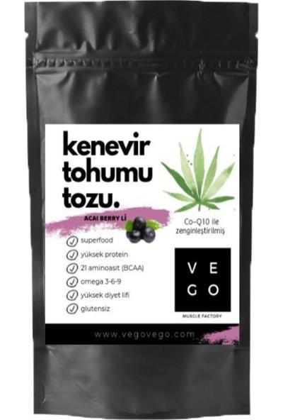 Vegovego Kenevir Kendir Tohumu Tozu - Acai Berry Aromalı 100 g