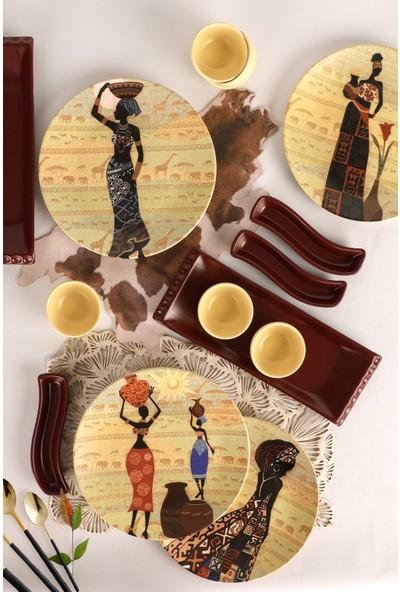 Keramika 15 Parça 4 Kişilik Kahvaltı Takımı Kibet 18565-67-71-72