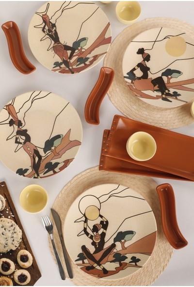 Keramika 15 Parça 4 Kişilik Kahvaltı Takımı Samburu 18566-68-69-70