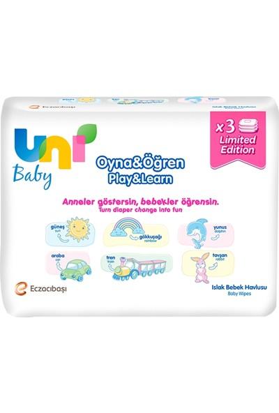 Uni Baby Wipes Özel Seri Islak Mendil 3'lü (52x3)