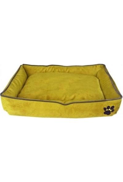 Nohov Tay Tüyü Köpek Yatağı Medium 15*60*80 cm Limon Sarısı