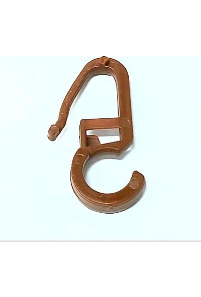 Sermet Süs Dünyası 100 Adet Rustik Toka Rustik Perde Düğmesi Plastik Perde Ruleti