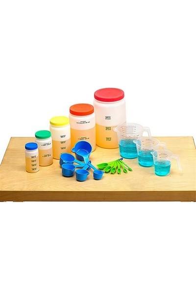 Montessori Ölçekli Sıvı Ölçüm Kapları