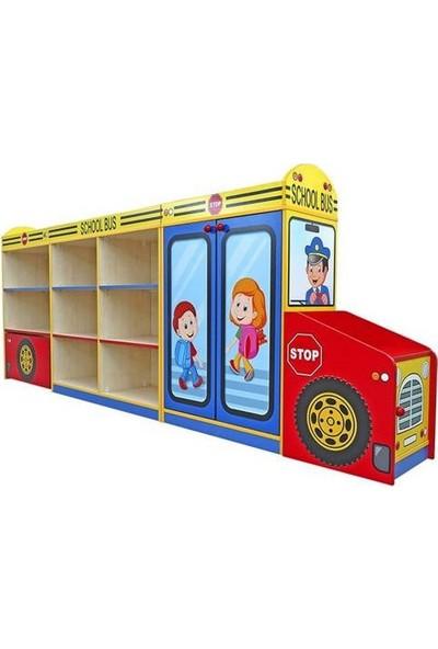 Montessori Okul Otobüsü Dolap Seti