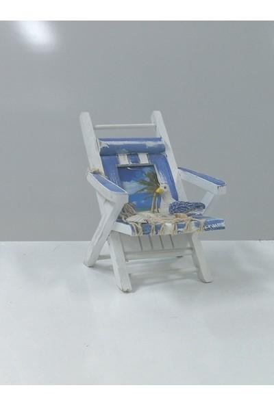 Sü-Me Ahşap Sandalye Tasarım Fotoğraf Resim Çerçeve 15 x 12 x 16 cm