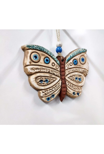 Sü-Me Seramik Mini Kelebek Dekoratif Duvar Süsü 13 x 10 cm