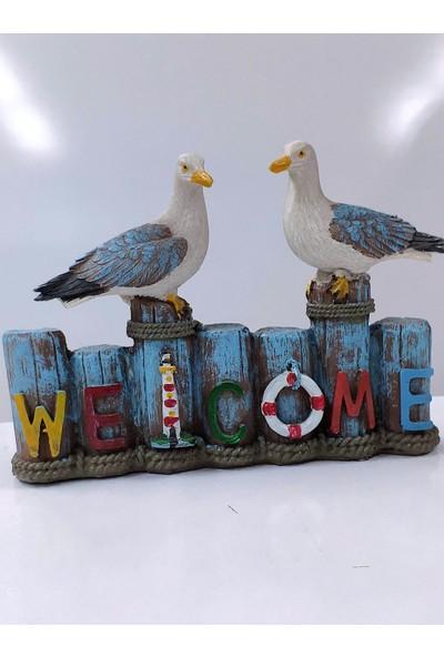 Sü-Me Dekoratif Hoşgeldin Martı Biblo Seti