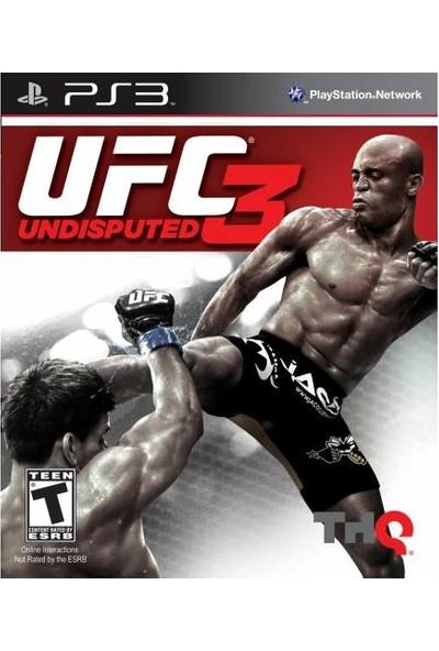 THQ Güvenlik Etiketli Ps3 Oyun Ufc 3 Undisputed Playstation 3 Dövüş Oyunu 1 2 Kişilik