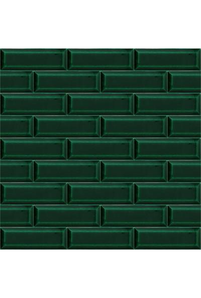 Armada Çini 7X21 cm Metro Yeşil Desenli Çini Seramik Karo