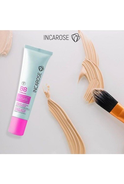 Incarose BB Cream SPF15 light 30 ml. LIGHT Sivilce ve Akne Önleyici Matlaştırıcı BB Krem.