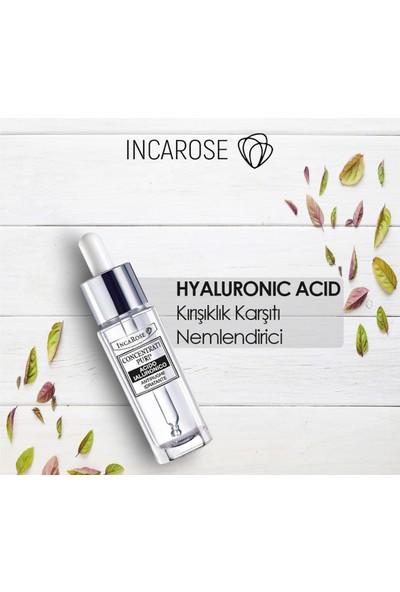 Incarose-Pure Solutıons® Hyaluronıc Acıd-Anti-Wrinkle-Hydratant-Kırışıklık Karşıtı ve Nemlendirici.Serum 15 ml.