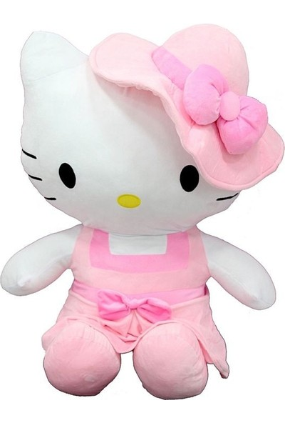 Sunman Peluş Hello Kitty Elbiseli Şapkalı 70CM