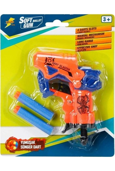 Sunman Dart Blaster Sünger Mermi Atan Silah