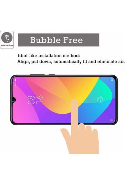 Case 4U Xiaomi Mi 9 Lite Tam Kaplayan Ekran Koruyucu Fiber Nano Siyah