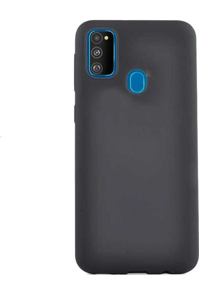 Case 4U Samsung Galaxy M30S Kılıf Mat Silikon Premier Arka Kapak Siyah