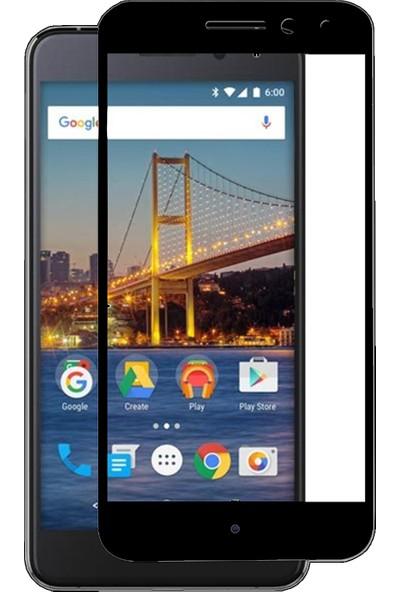 Case 4U General Mobile GM5 Plus Tam Kaplayan Ekran Koruyucu Fiber Nano Siyah