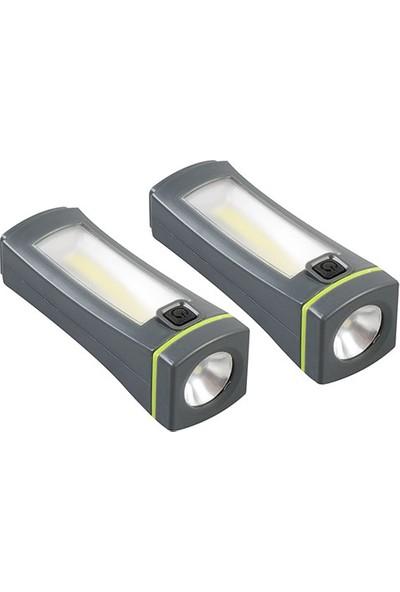 S-Link SL-8701 Yeşil 2 x 2w Ayrılabilir Mini Fener LED
