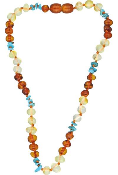Chavin Kehribar Kolye Kız Erkek Çocuk Bebek Diş Kolyesi ED51