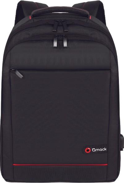 "Mack MCC-006 15.6"" Office USB Girişli Notebook Sırt Çantası Siyah"