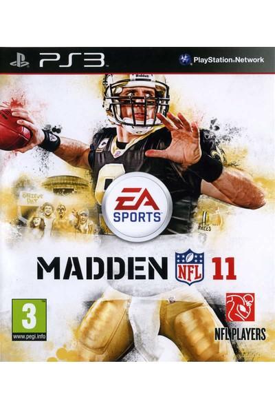 Nfl Players Ps3 Oyun Madden 11 Nfl Amerikan Futbolu Playstation 3 Oyunu