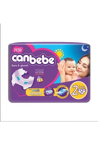 Canbebe 2 Beden Jumbo Bebek Bezi 3-6 kg 52 Adet