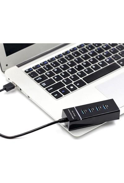 Alfais 4360 4 Port USB 3.0 Hub Switch Çoklayıcı Çoğaltıcı Adaptör