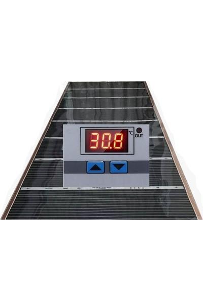 Heat Plus 80 x 150 cm Dijital Termostatlı Yanında Da Keçe Halı Altı Isıtıcı Karbon Film