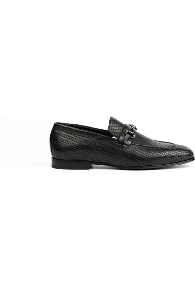 New Bota Erkek Siyah Klasik Ayakkabı K10318-1597