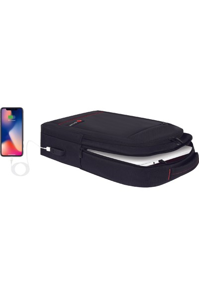 "Mack MCC-007 17.3"" Office USB Girişli Notebook Sırt Çantası Siyah"
