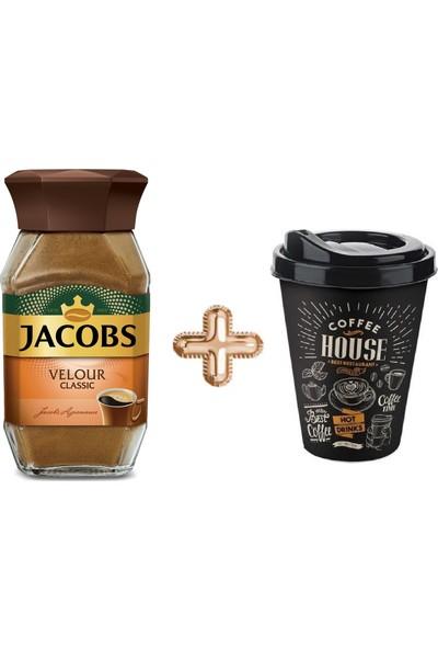 Jacobs Velour Classic Kahve 95 gr (Termos Bardak Hediyeli)