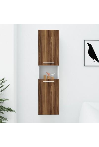 Wood'n Love Oscar Asma Çok Amaçlı Dolap - Beyaz / Ceviz