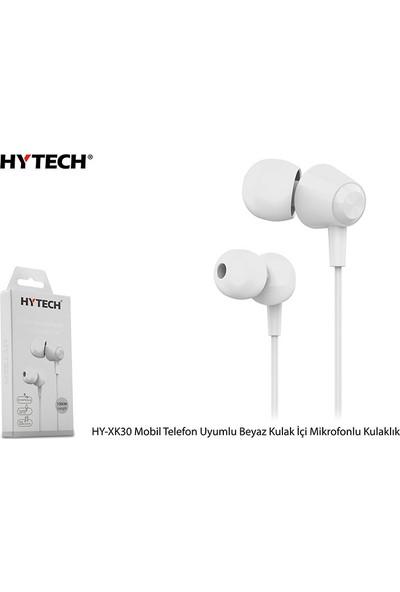 Hytech HY-XK30 Mobil Uyumlu Beyaz Kulak İçi Mikrofonlu Kulaklık