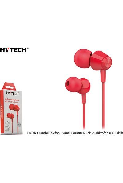 Hytech HY-XK30 Mobil Uyumlu Kırmızı Kulak İçi Mikrofonlu Kulaklık