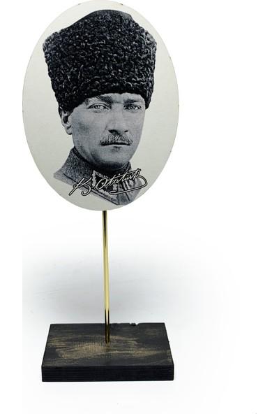 Halk Kitabevi Ahşap Dekoratif Atatürk Tablo Set 5