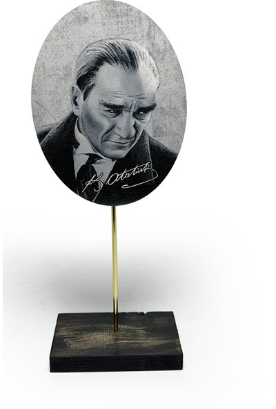Halk Kitabevi Ahşap Dekoratif Atatürk Tablo Set 4
