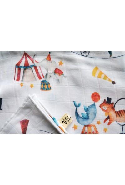 Asu Baby&Kids Circus Organik Bambu Müslin Örtü
