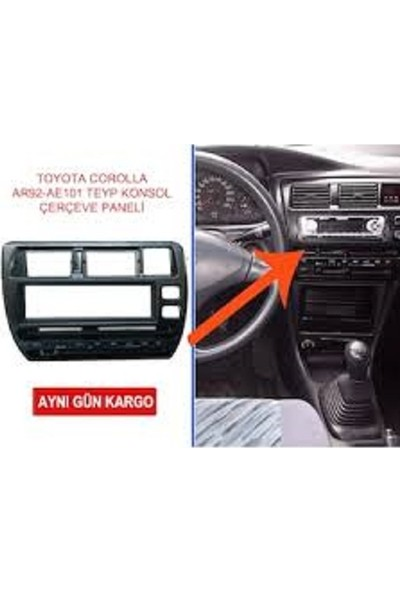 Toyota Corolla 1992-1998 Teyp Çerçevesi AE101 55405-12690