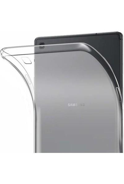 "Tekno Grup Samsung Galaxy Tab A 10.1"" T510 Kılıf Darbe Emici Silikon Kılıf Şeffaf + Cam Ekran Koruyucu"