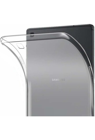 Tekno Grup Samsung Galaxy Tab A 8 T290 Kılıf Darbe Emici Silikon Kılıf Şeffaf + Nano Ekran Koruyucu