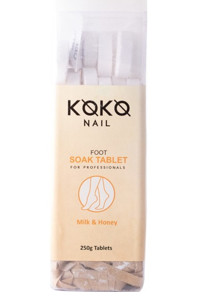 Koko Nail Pedikür Suda Bekletme Tablet Süt&bal 250 gr