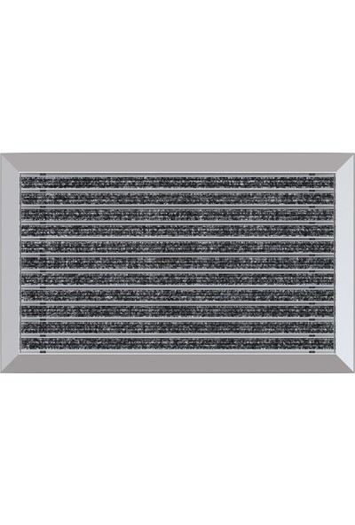 Arfen Halı Üst Yüzeyli Alüminyum Paspas - Gri 40 x 70 cm