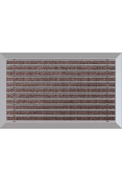 Arfen Halı Üst Yüzeyli Alüminyum Paspas - Kahverengi 40 x 70 cm