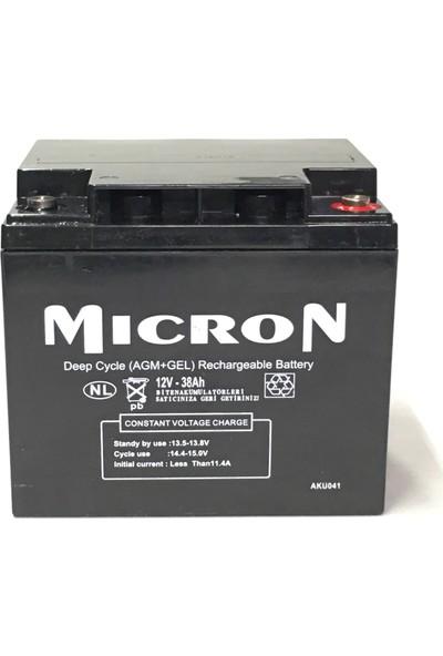 Mıcron 12V 38A AGM Jel Kuru Akü