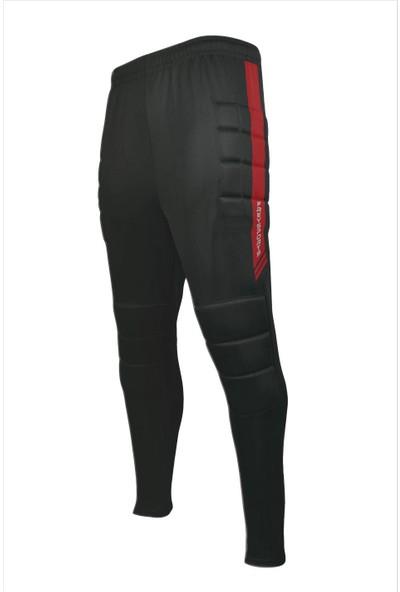 FreySport Profesyonel Süngerli Kaleci Pantolonu (Siyah Kırmızı)