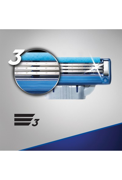 Gillette Mach3 Turbo 8'li Yedek Tıraş Bıçağı