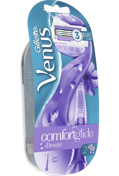 Gillette Venüs Breeze Kadın Tıraş Makinesi + 2 Adet Yedek Başlık